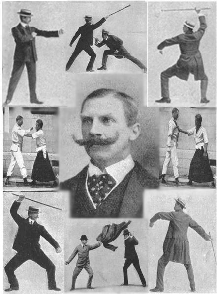 A montage of Bartitsu techniques