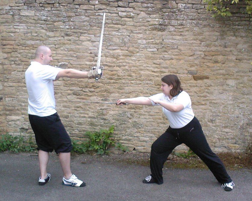 Smallsword according to Hope's New Method, back-sword according to Wylde